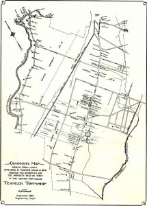 Composite drawing of Teaneck based on maps from the Walker Atlas of 1876.