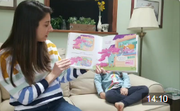 Screenshot of a story time program on Facebook